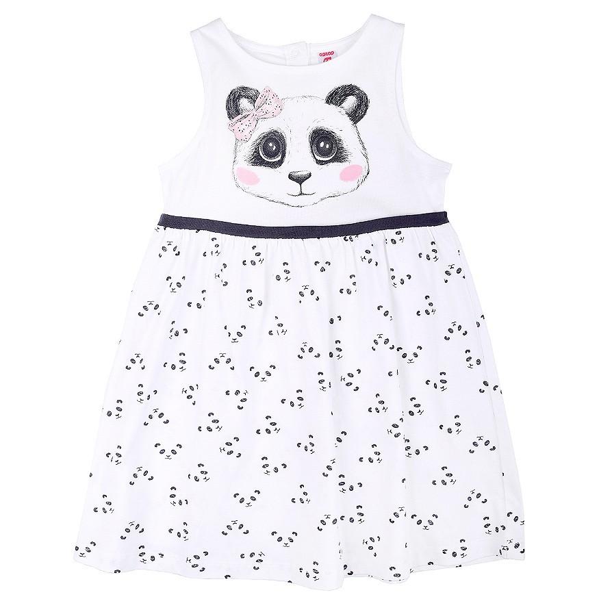 """Платье """"Панда на белом"""""""