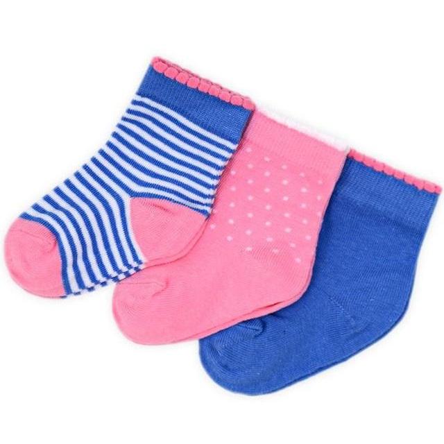 "Носки ""Розовые с синим"" 3шт."