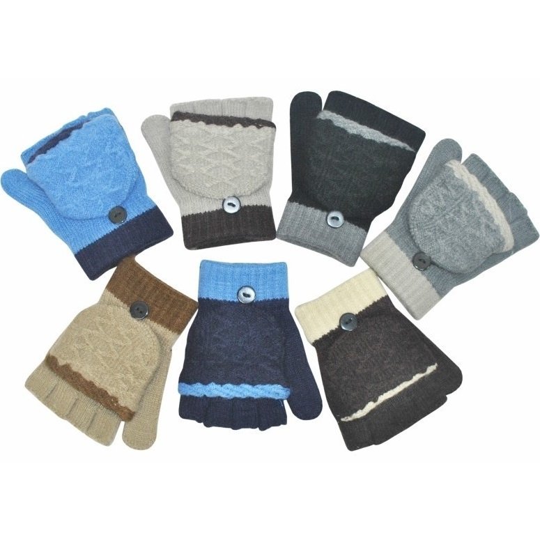 Варежки-перчатки детские, комбинированные
