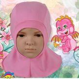 """Шапка-шлем детский, из хлопка """"Розовый"""" 50-54"""
