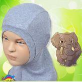 Шапка-шлем детский, из хлопка 50-54