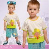 """Комплект футболка с шортами """"Попугай"""""""