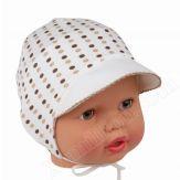 Шапочка для малыша, на завязках 44-46